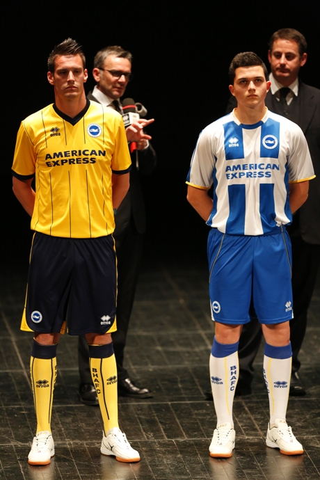 Albion's kit launch last season. The new Nike versions go on show this evening.