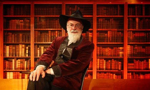 Pratchett's visit is big news, even in Germany
