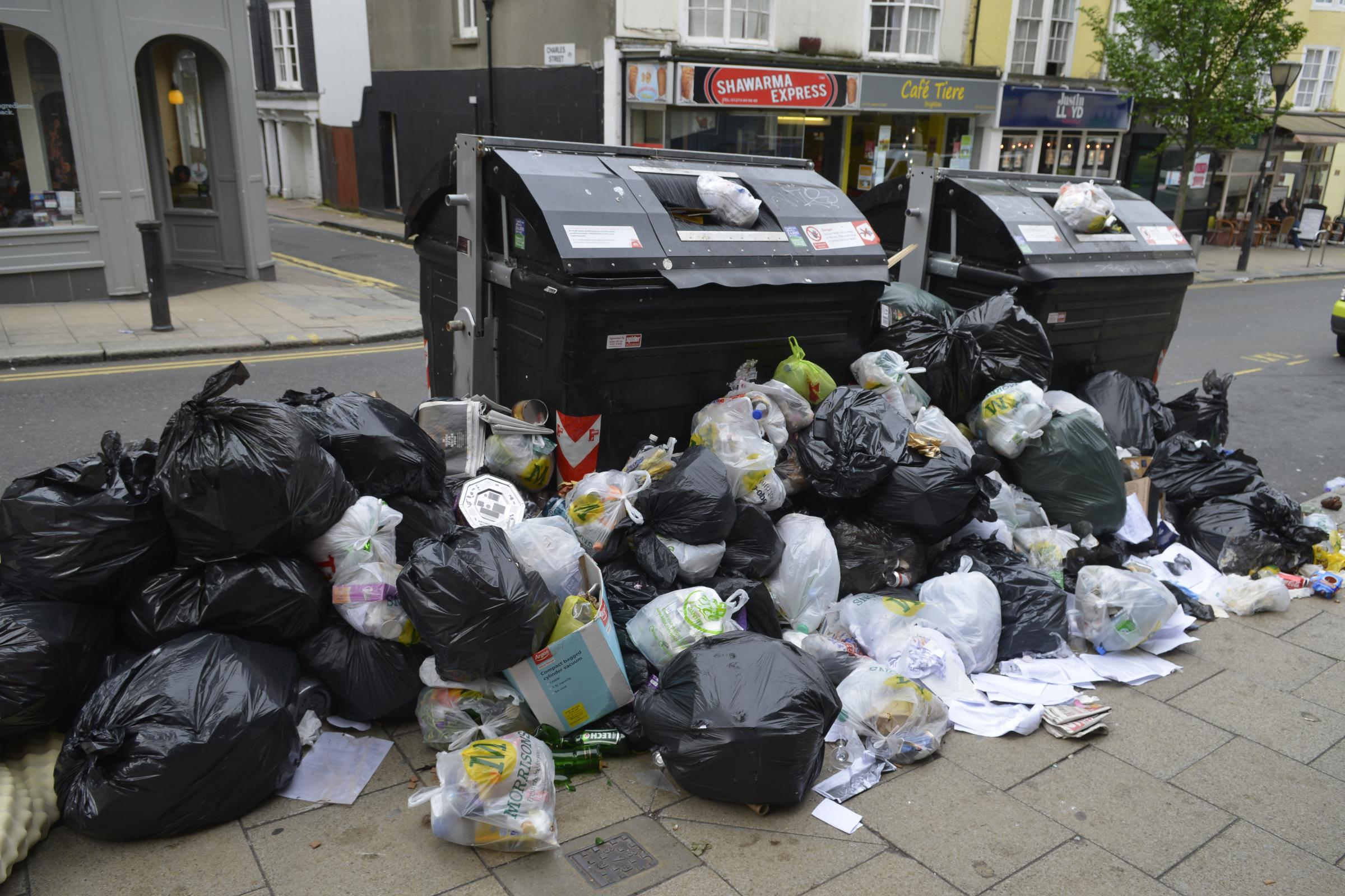 Last year's bin strike saw litter strewn across Brighton and Hove