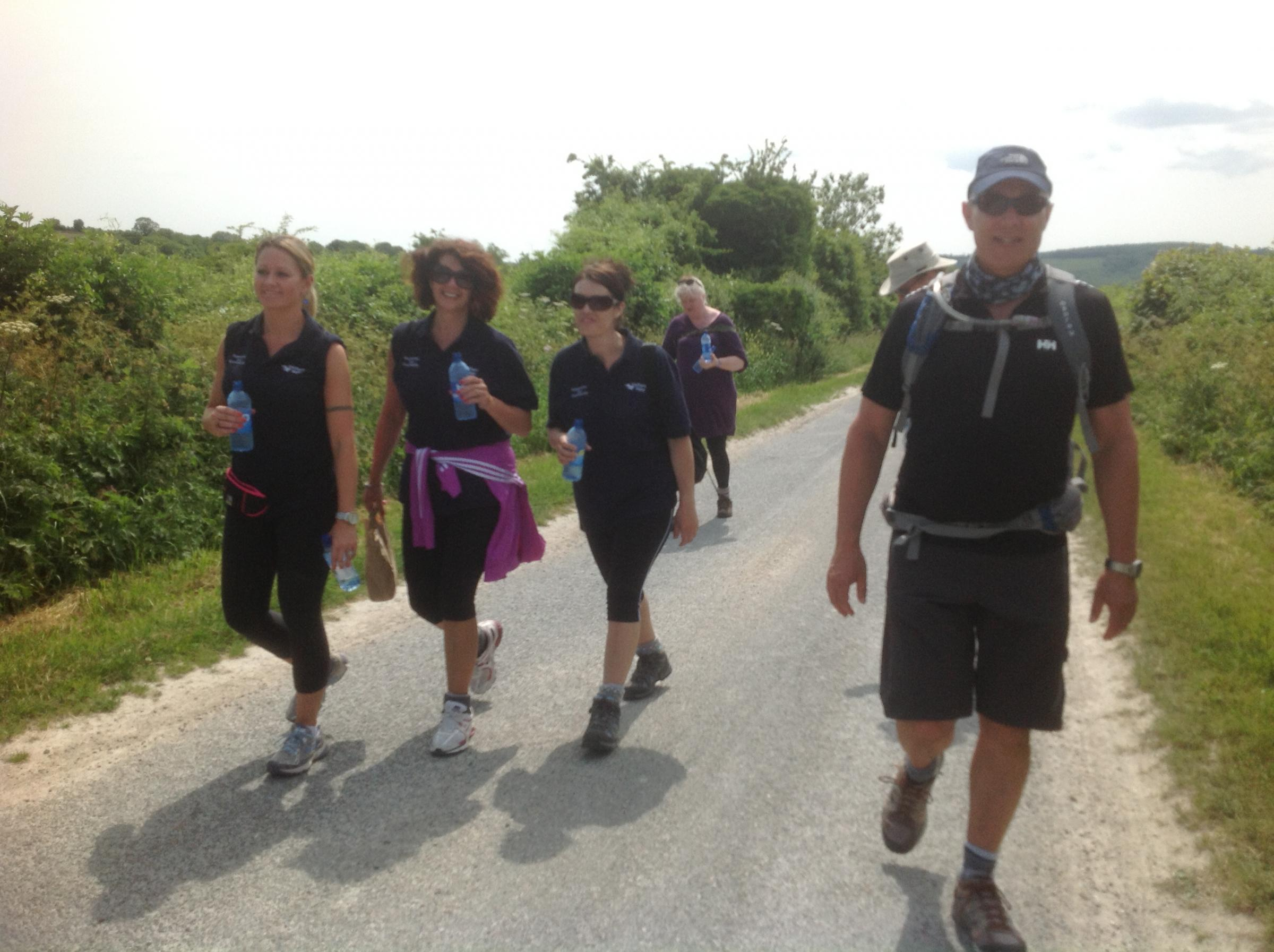 Some sore feet in six-day charity walk across South Downs Way