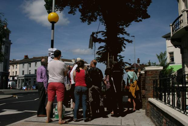 Seven Dials elm activists in celebration event after Brighton and Hove City Council U-turn