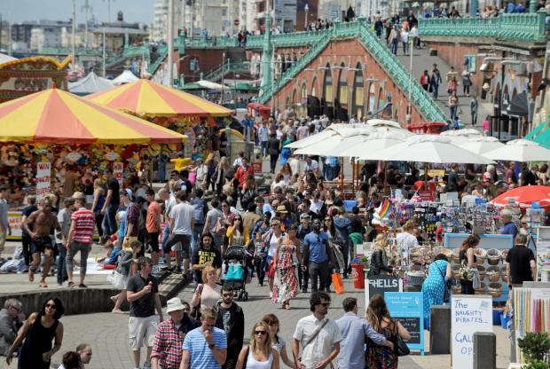 The Argus: Traders on Brighton beach will be hoping for similar summer scenes