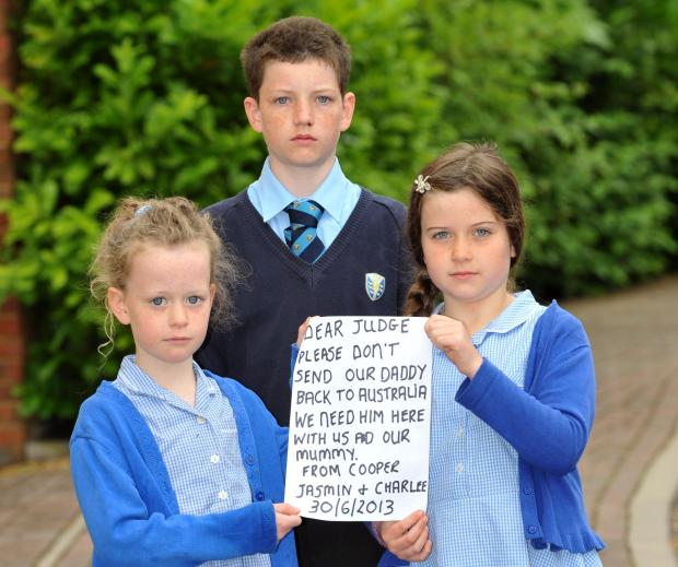 Haywards Heath children beg Government not to deport their daddy