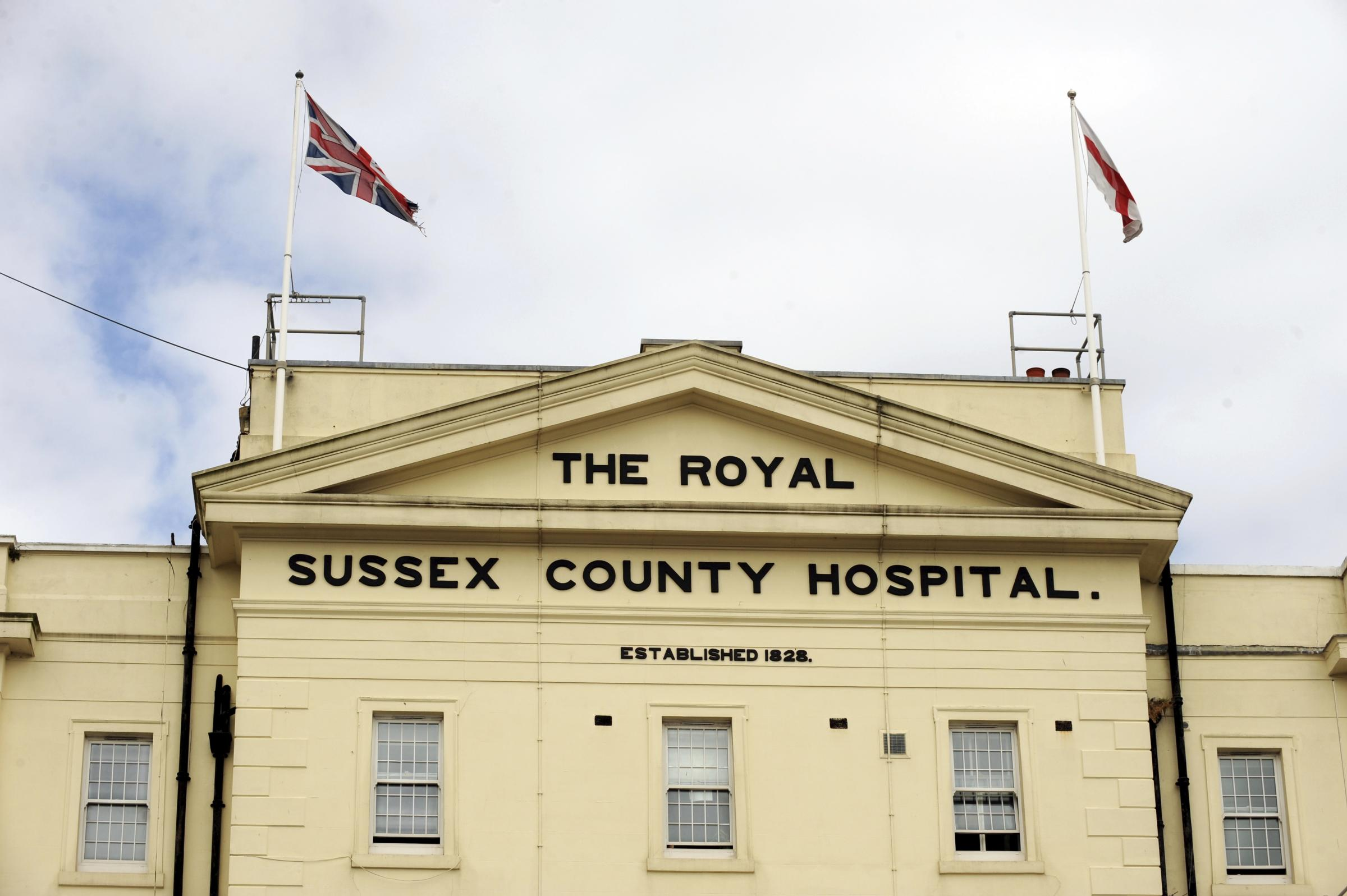 Transferring patients at Royal Sussex County Hospital proves problem in bad weather