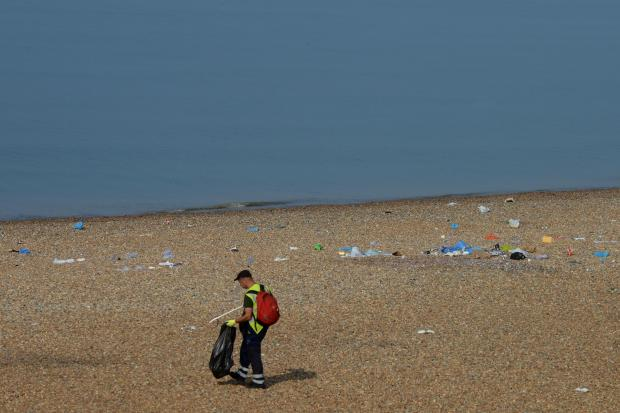 Brighton and Hove beaches left in a mess after hot weekend