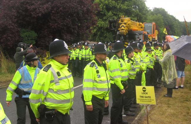 Fracking protesters say police use 'excessive force'