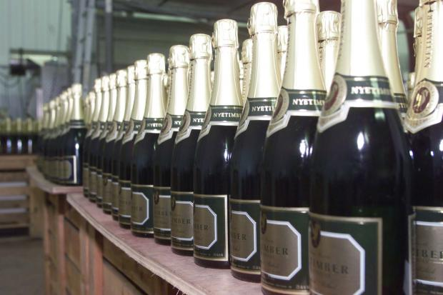 Sparkling wine from award-winning Nyetimber vineyard in West Chiltington