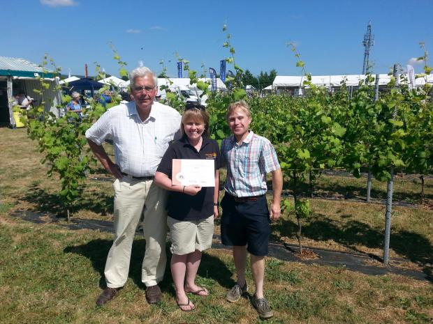 The Argus: Emma Rice, winemaker, with Howard and Hugo Corney