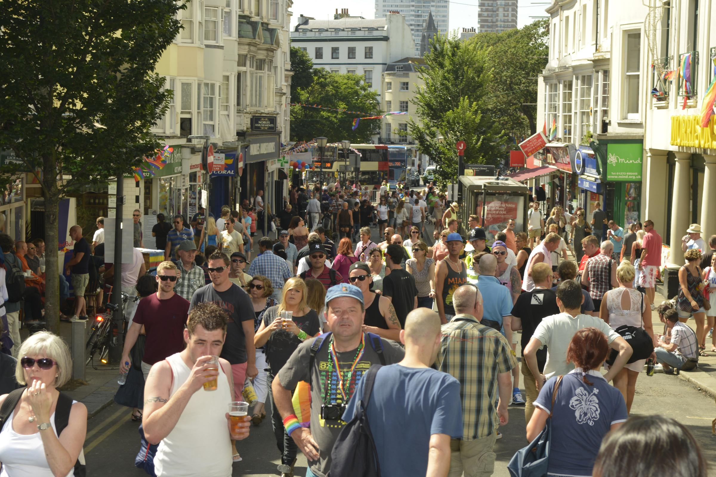 St James's Street during Pride 2013