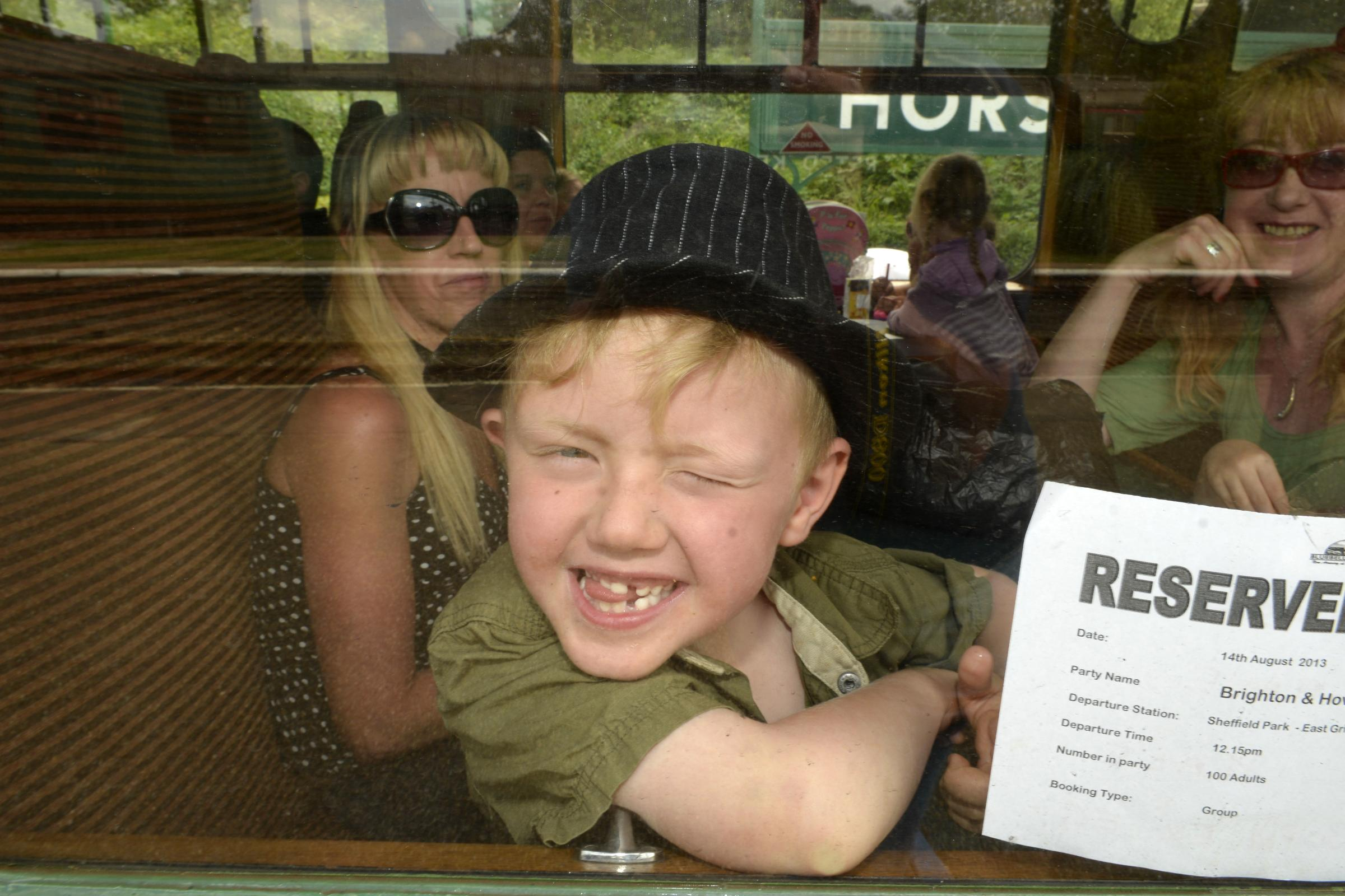 Children treated to a Bluebell railway adventure