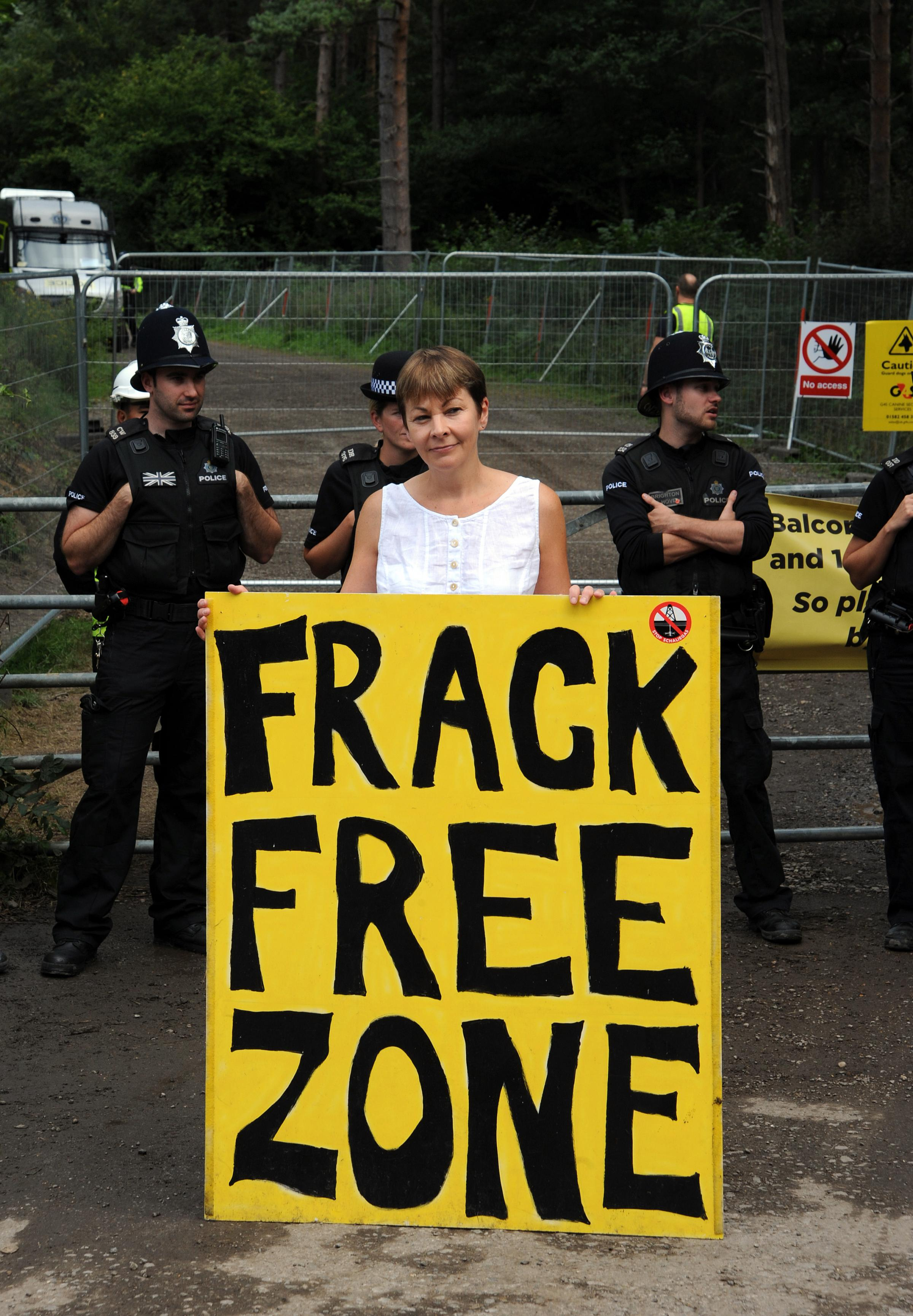 Balcombe residents turn to the sun