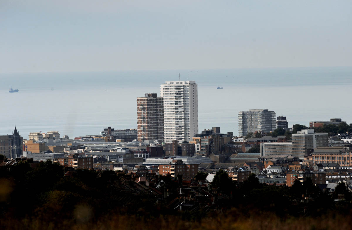 Sussex Heights towers over the Brighton skyline. Photo by Simon Dack