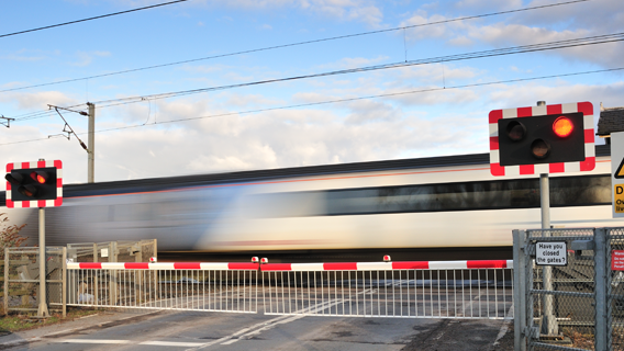 Woman dramatically rescued from railway tracks by two strangers at Worthing crossing
