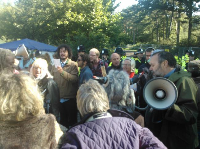 Council aiming to remove fracking protest camp in Balcome