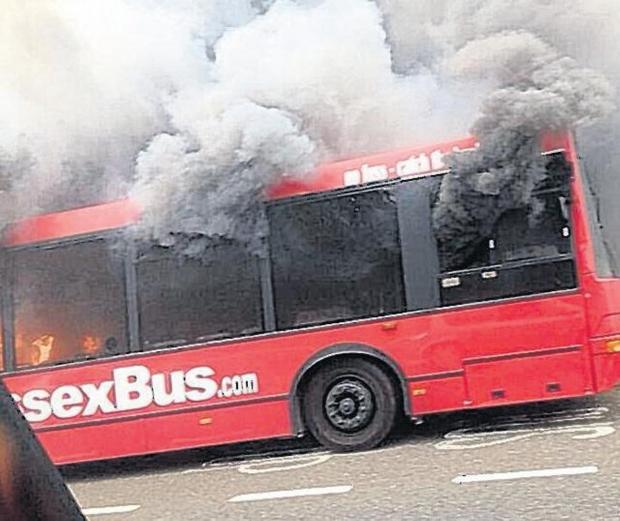 Electrical fault thought to be reason bus burst into flames on A23