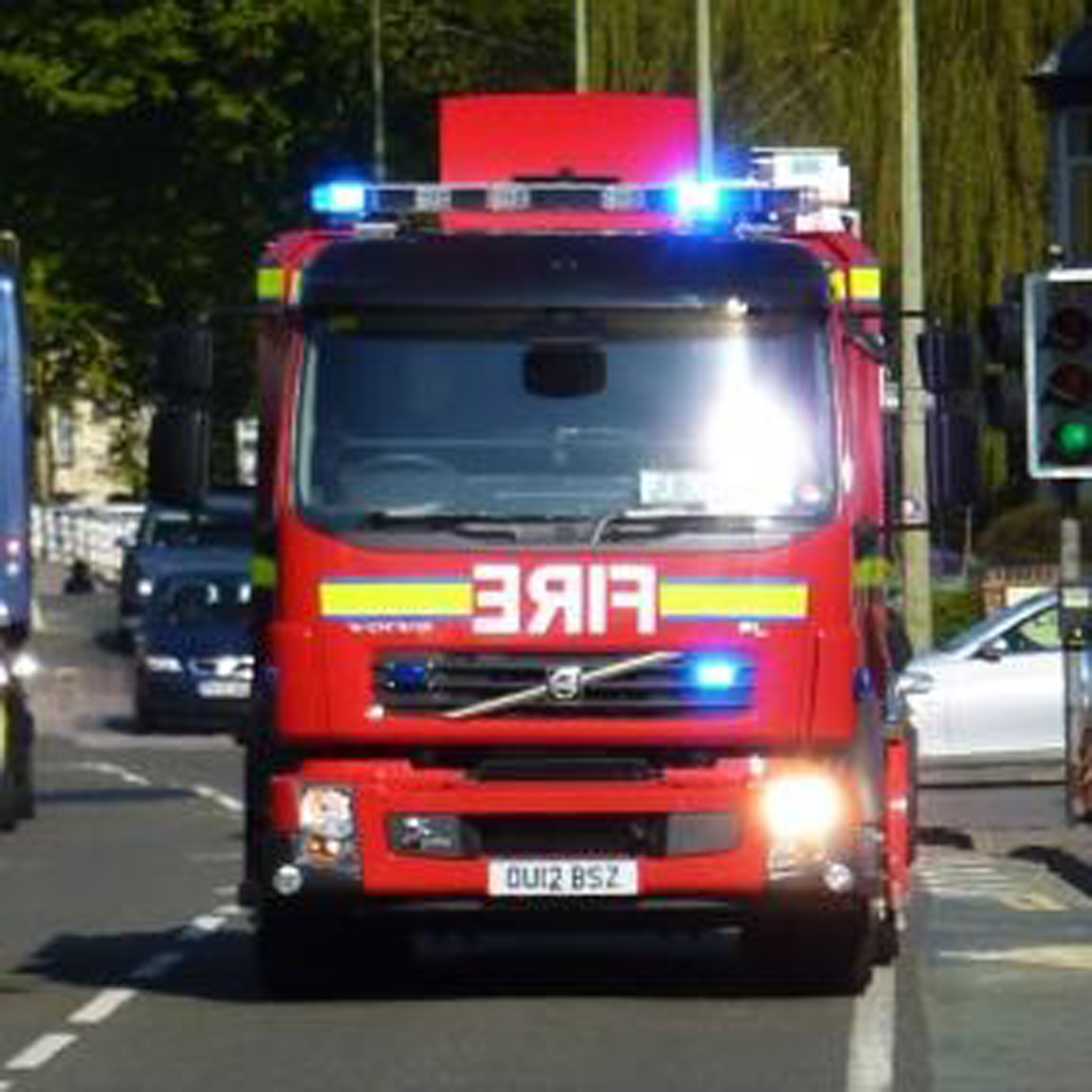 Fire crews called to burning car in Peacehaven