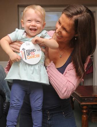 Miracle Haywards Heath toddler makes family Stand Up To Cancer