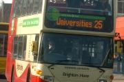 Delays and cancellations on the buses expected until the early evening in Brighton and Hove