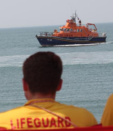 Lifeboat crew rescue stranded wind surfer
