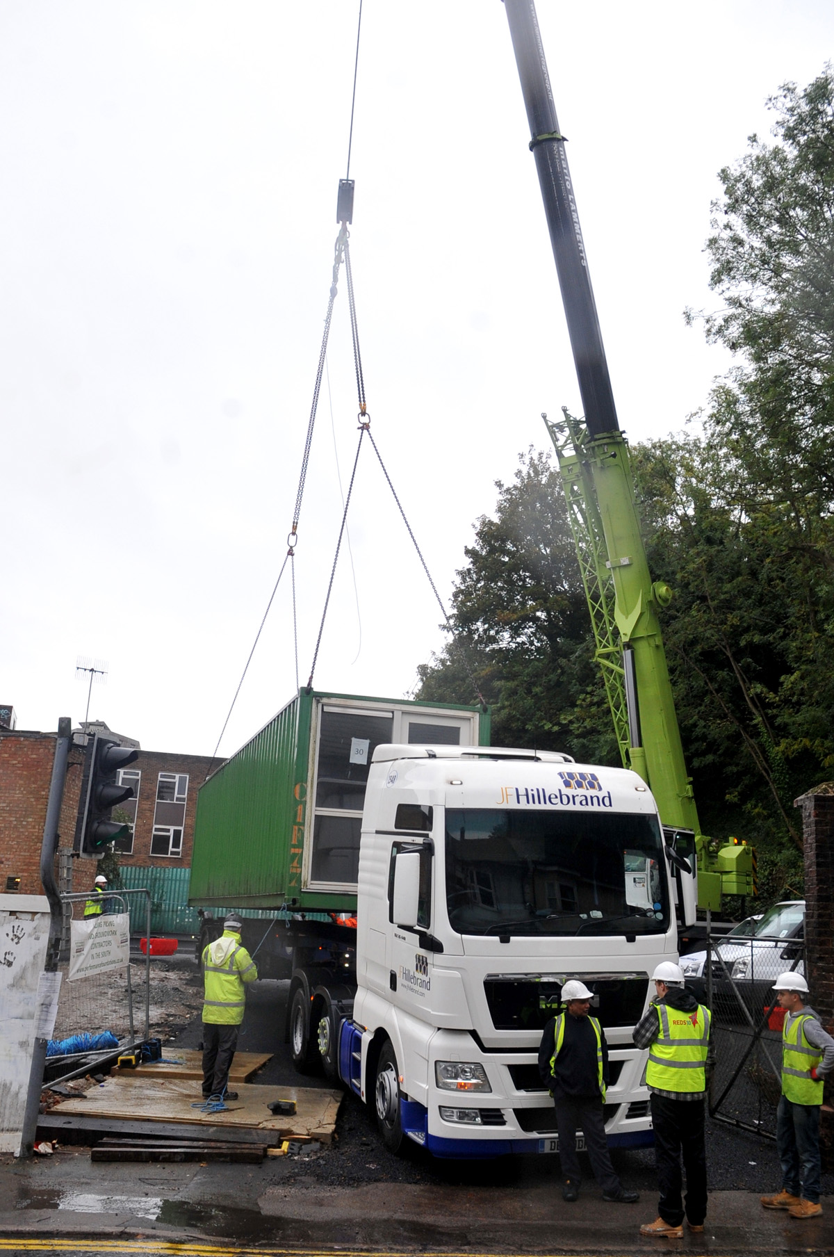 First shipping containers for Brighton homeless project arrive in the city