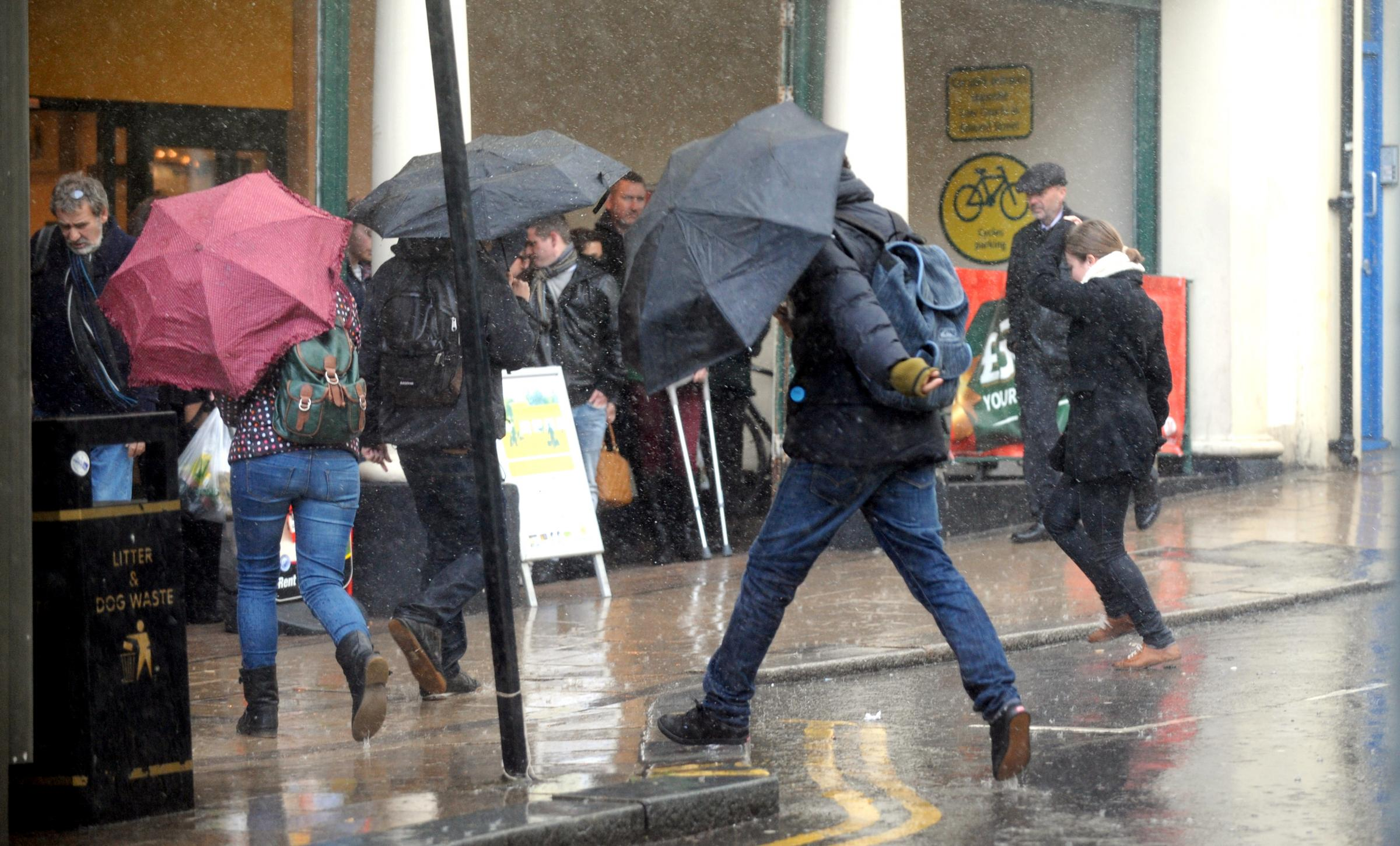 Weather warning as heavy rain showers continue in Sussex