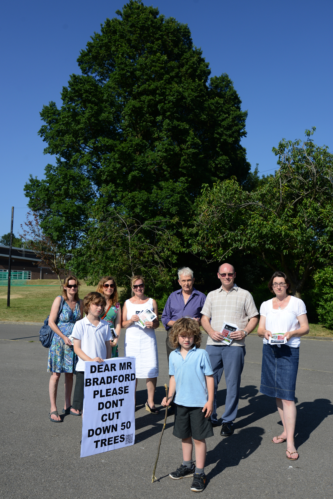 Residents protest the original Dorothy Stringer pitch plans