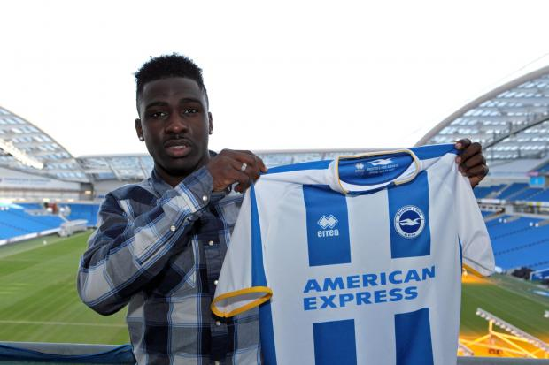 The Argus: Jeffrey Monakana after joining Albion today. Picture by Paul Hazlewood
