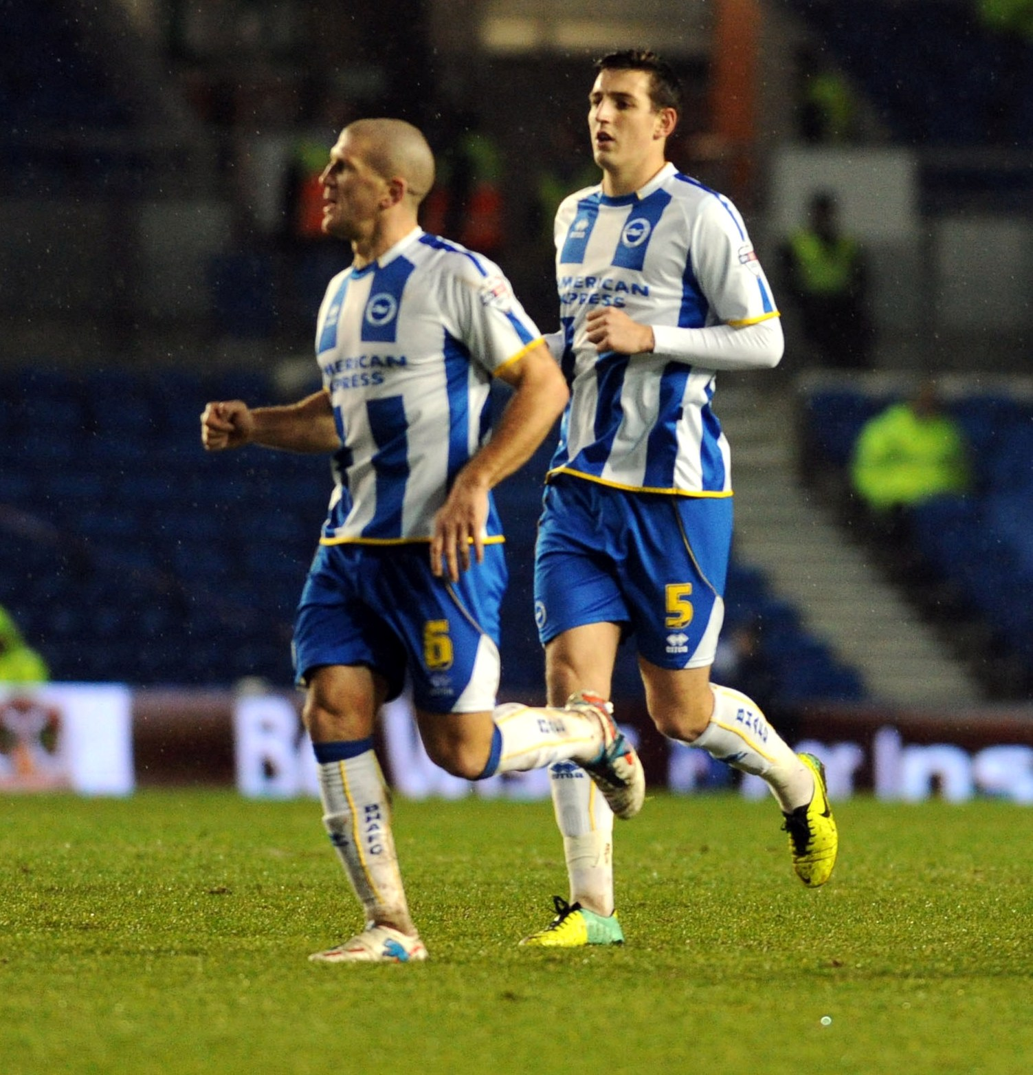 Adam El-Abd on his last start for Albion against Reading with Lewis Dunk