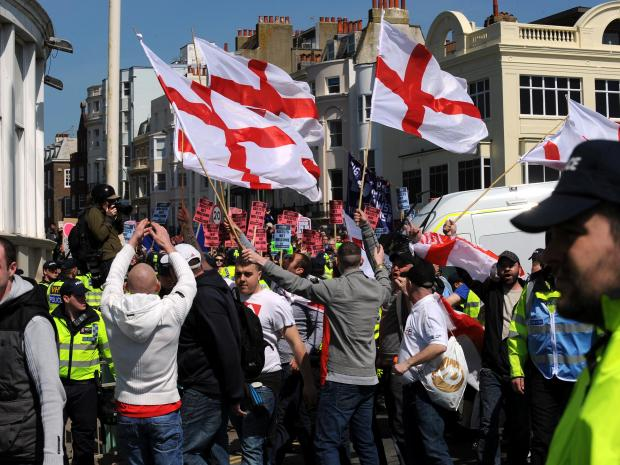 The Argus: March for England route to be reviewed after road collapse