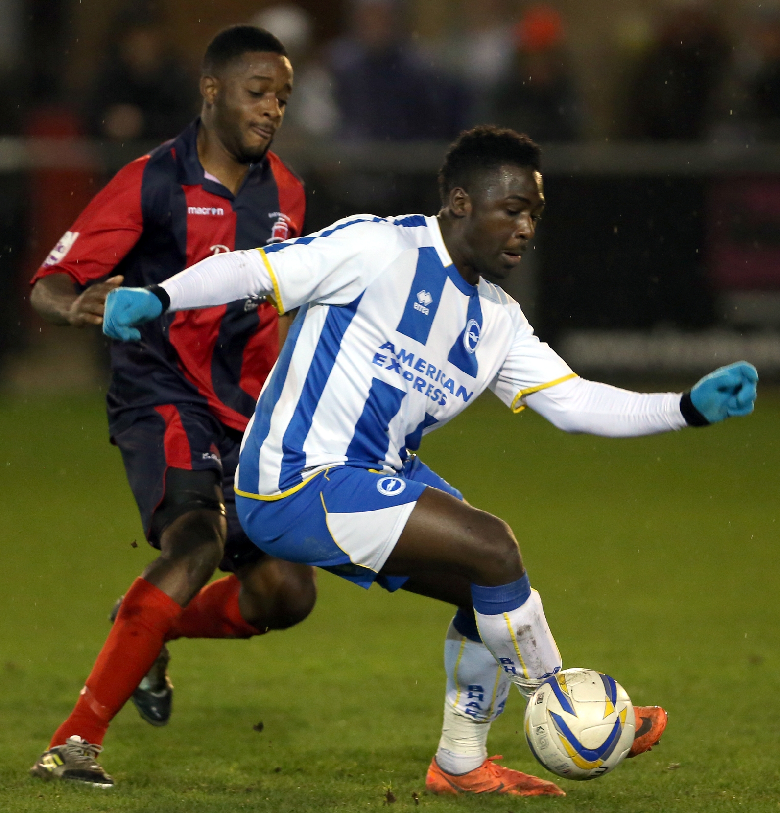 Jeffrey Monakana, who is on loan at Crawley from Albion, has been told to get in shape by Reds boss John Gregory