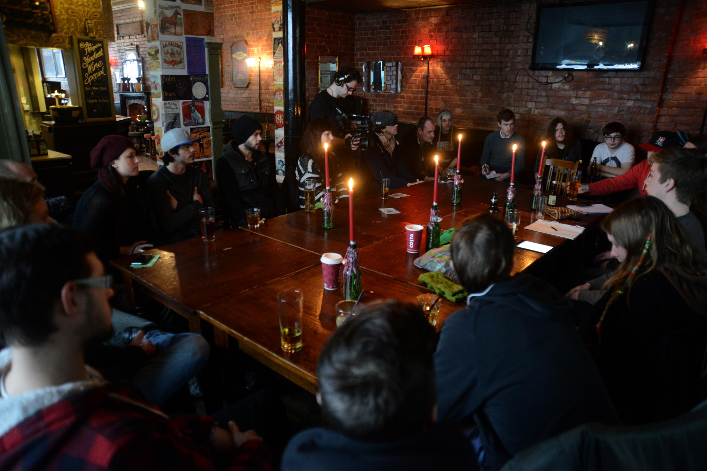 The first meeting of the Brighton Cannabis Club