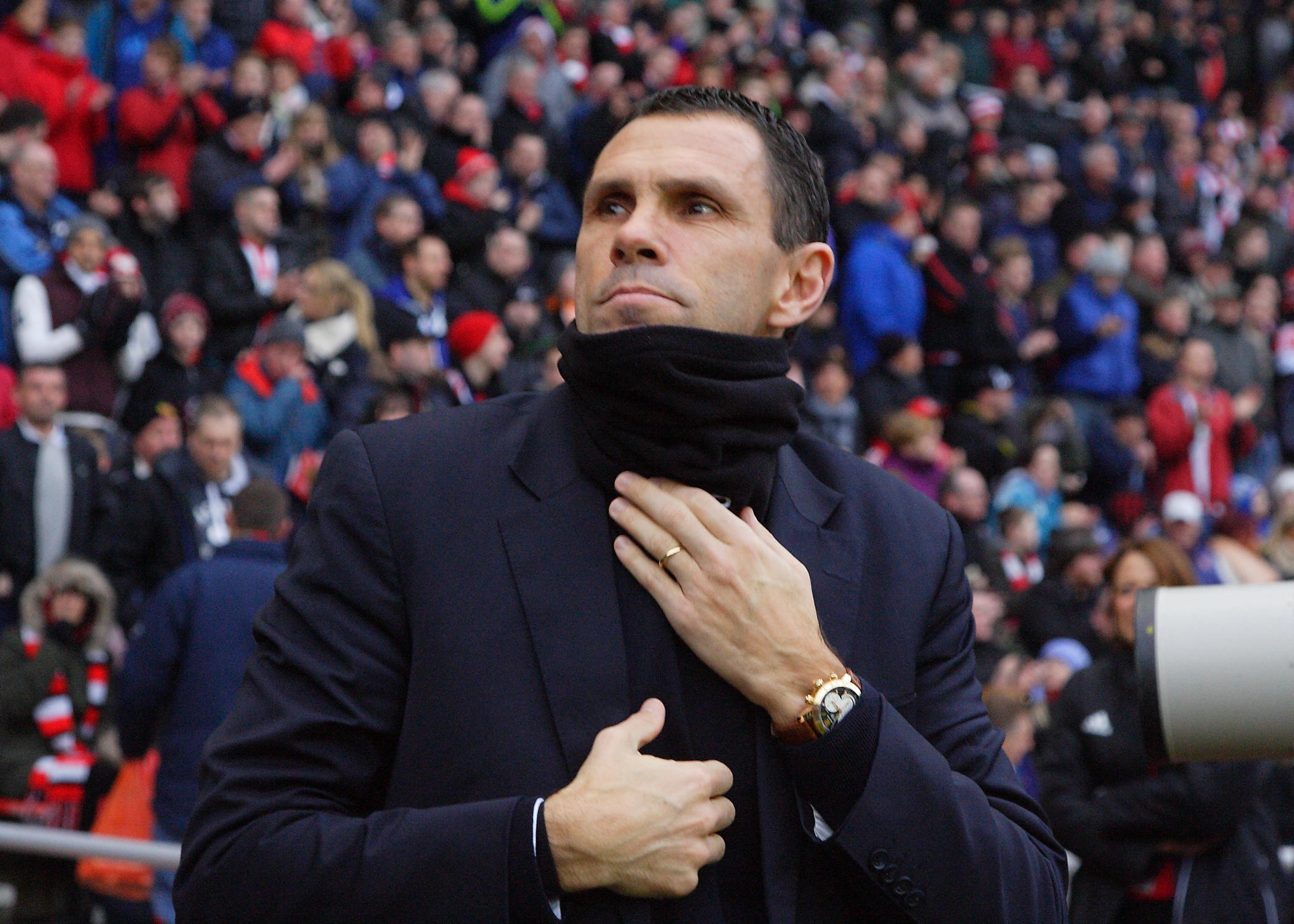 Gus Poyet's Sunderland will meet the winners of tonight's game