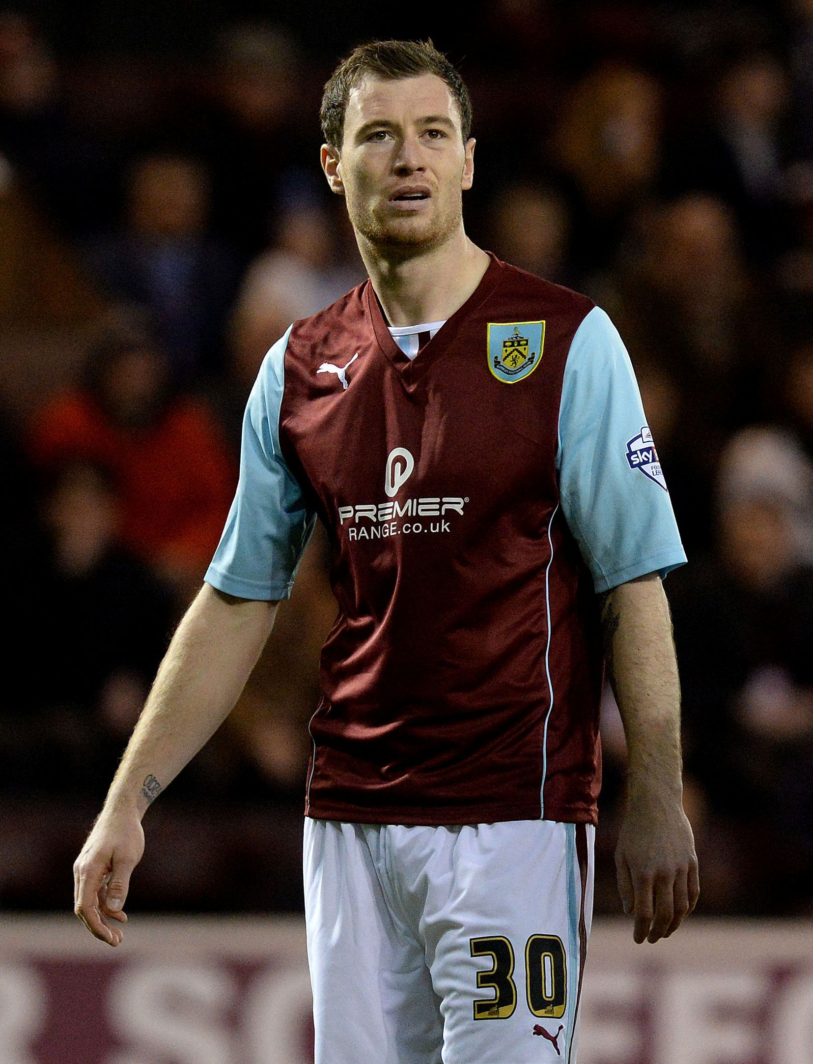 Ashley Barnes played a part in the Burnley goal which  ended Ipswich's challenge for the top six.