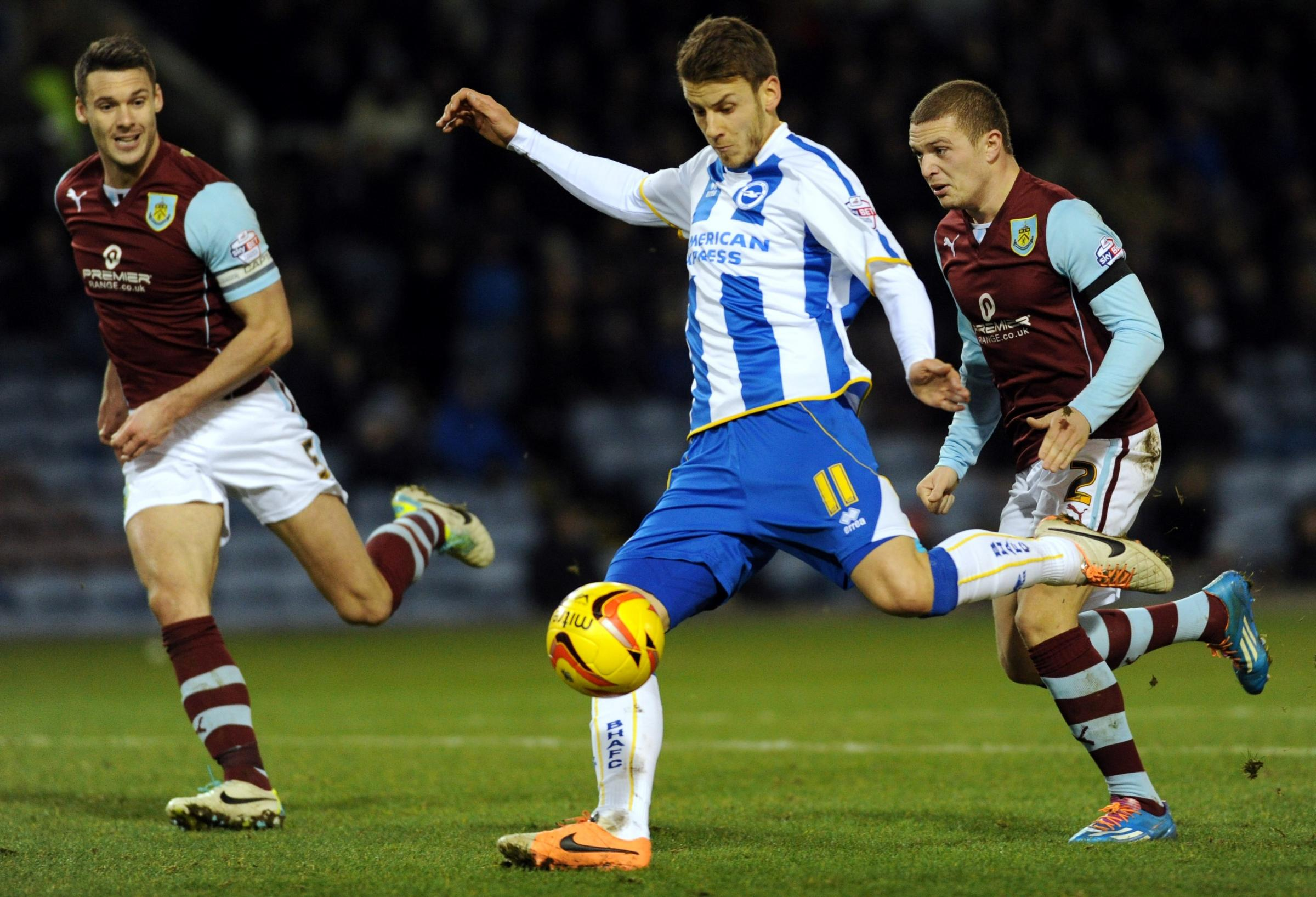 Andrea Orlandi almost won it for Albion with this effort