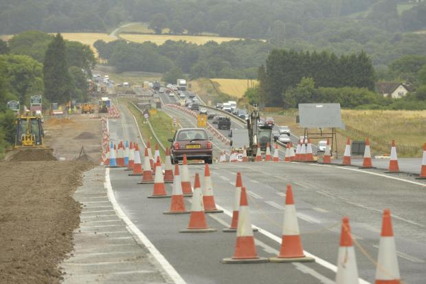 The Argus: The A23 roadworks at Warninglid