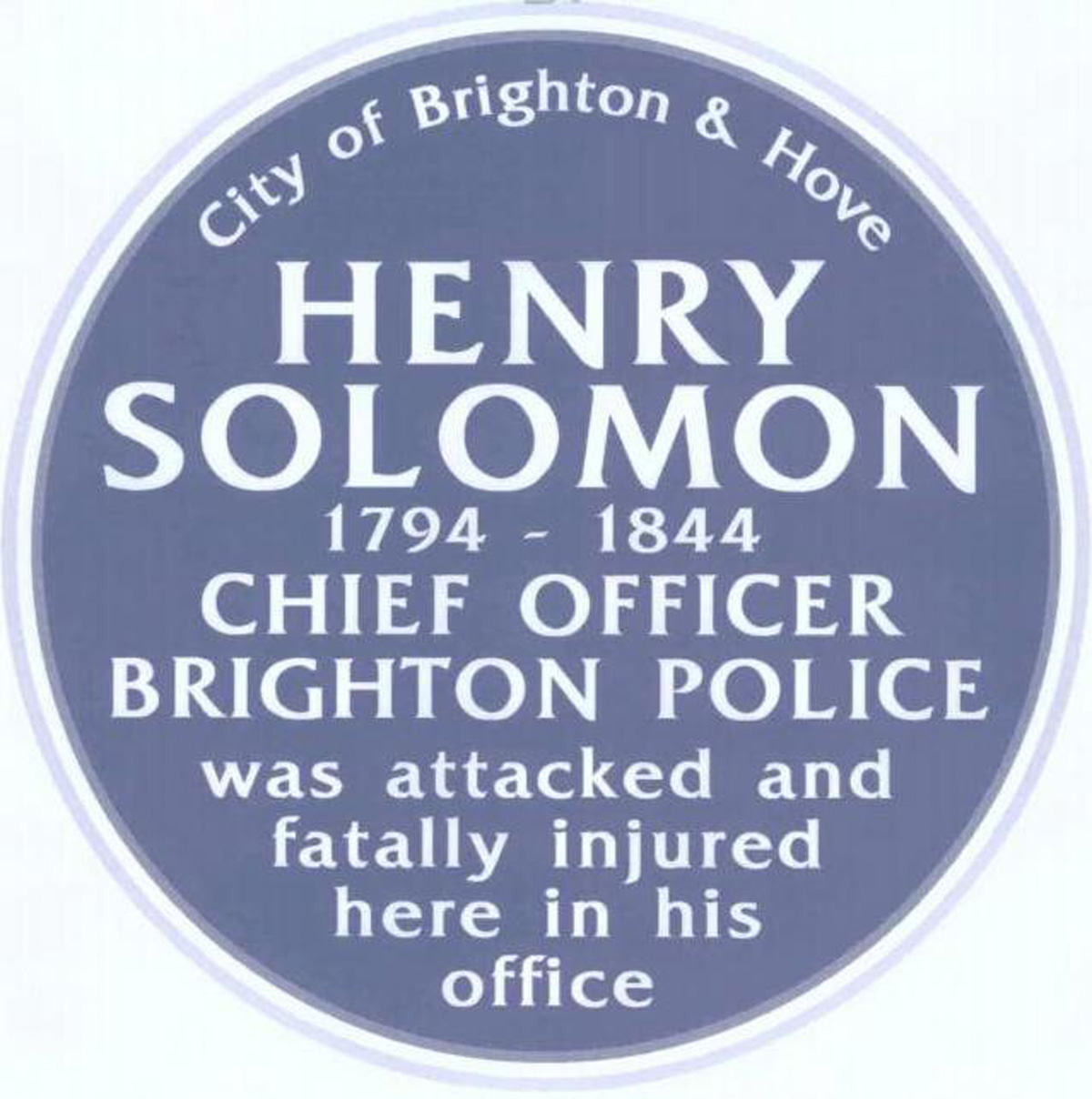 Henry Soloman's blue plaque