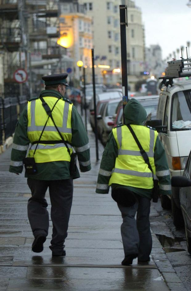 The Argus: Traffic wardens on the streets of Brighton and Hove