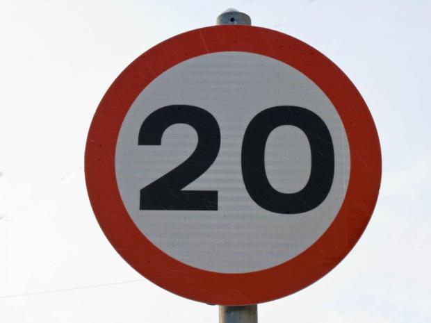 Residents ask for 20 mph