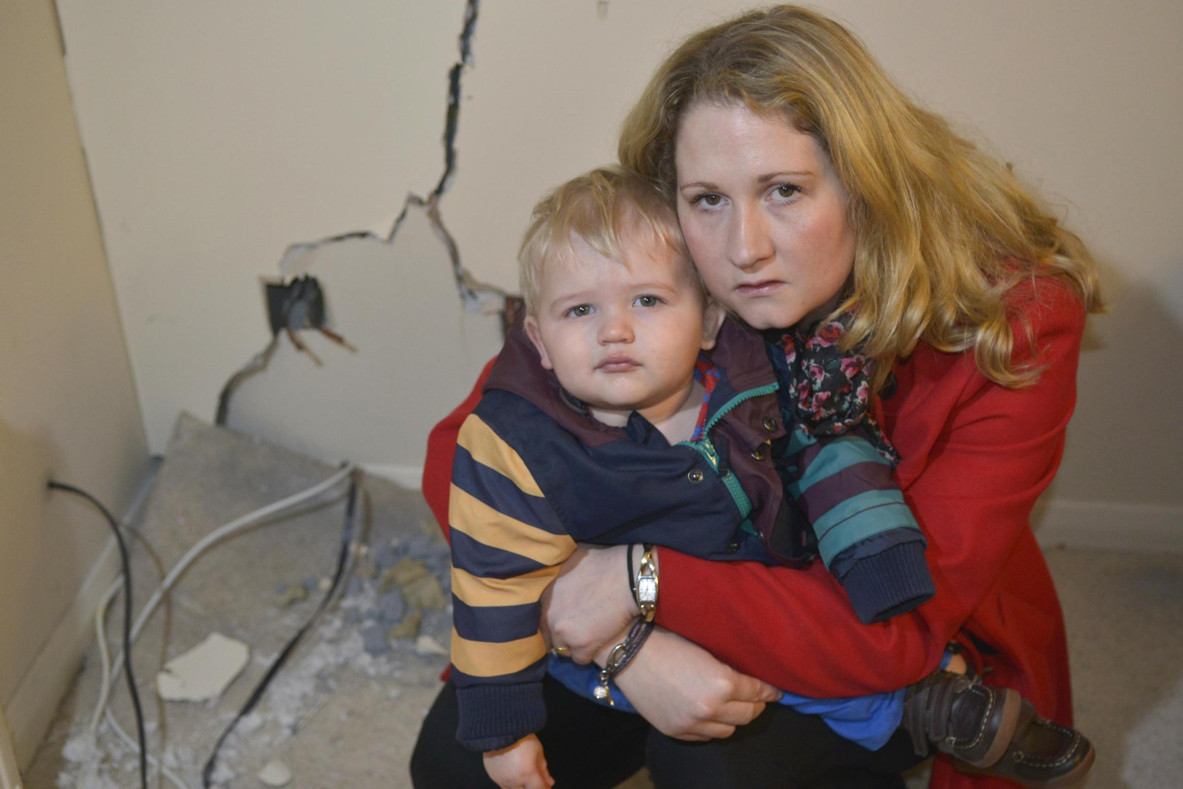 Portslade toddler lucky to be alive after car smashes into house
