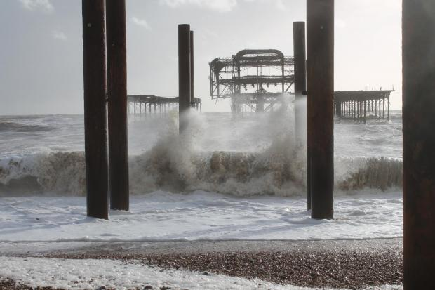 West Pier columns planned to be removed from the beach