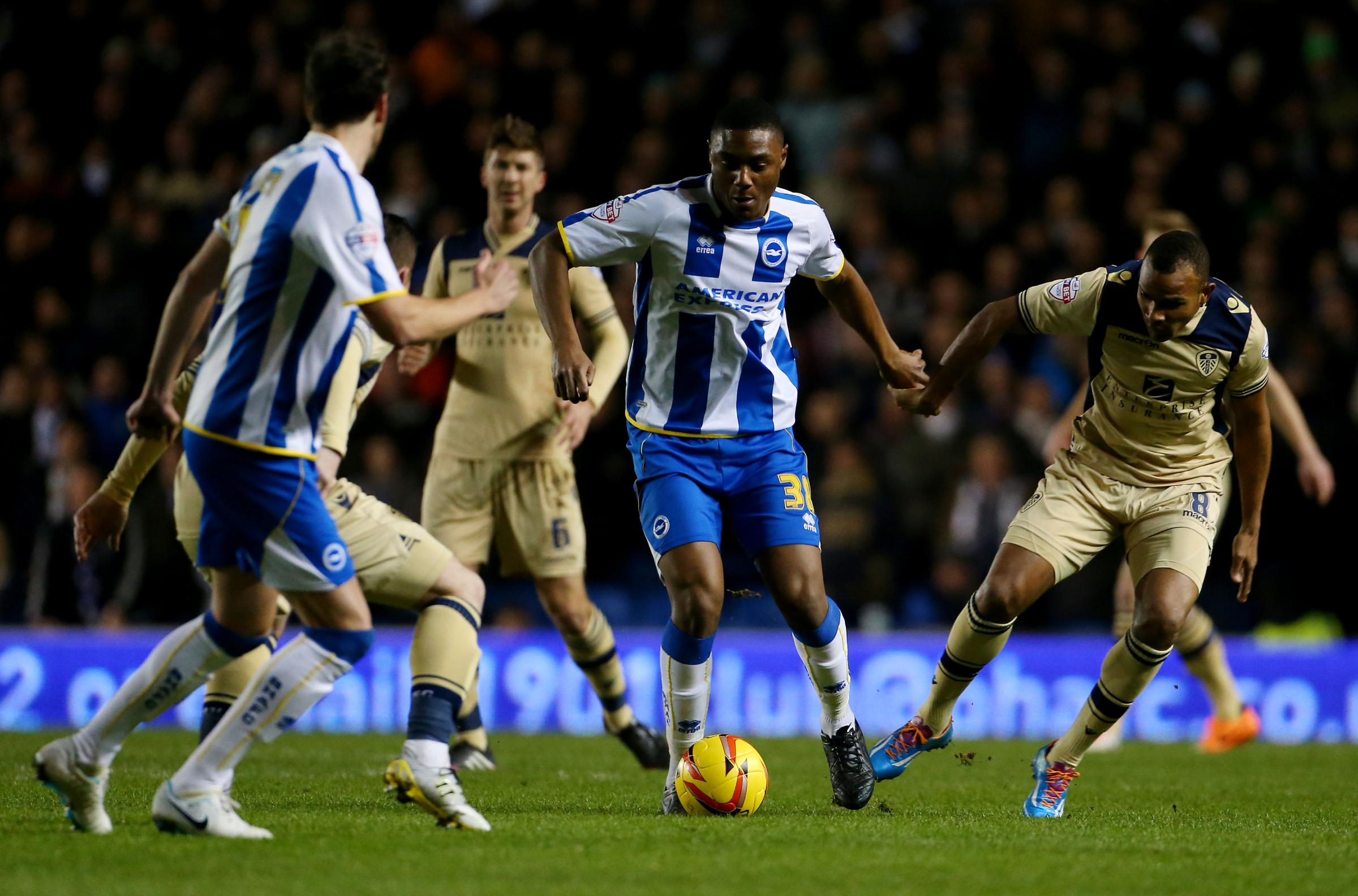 Rohan Ince in action for Albion tonight