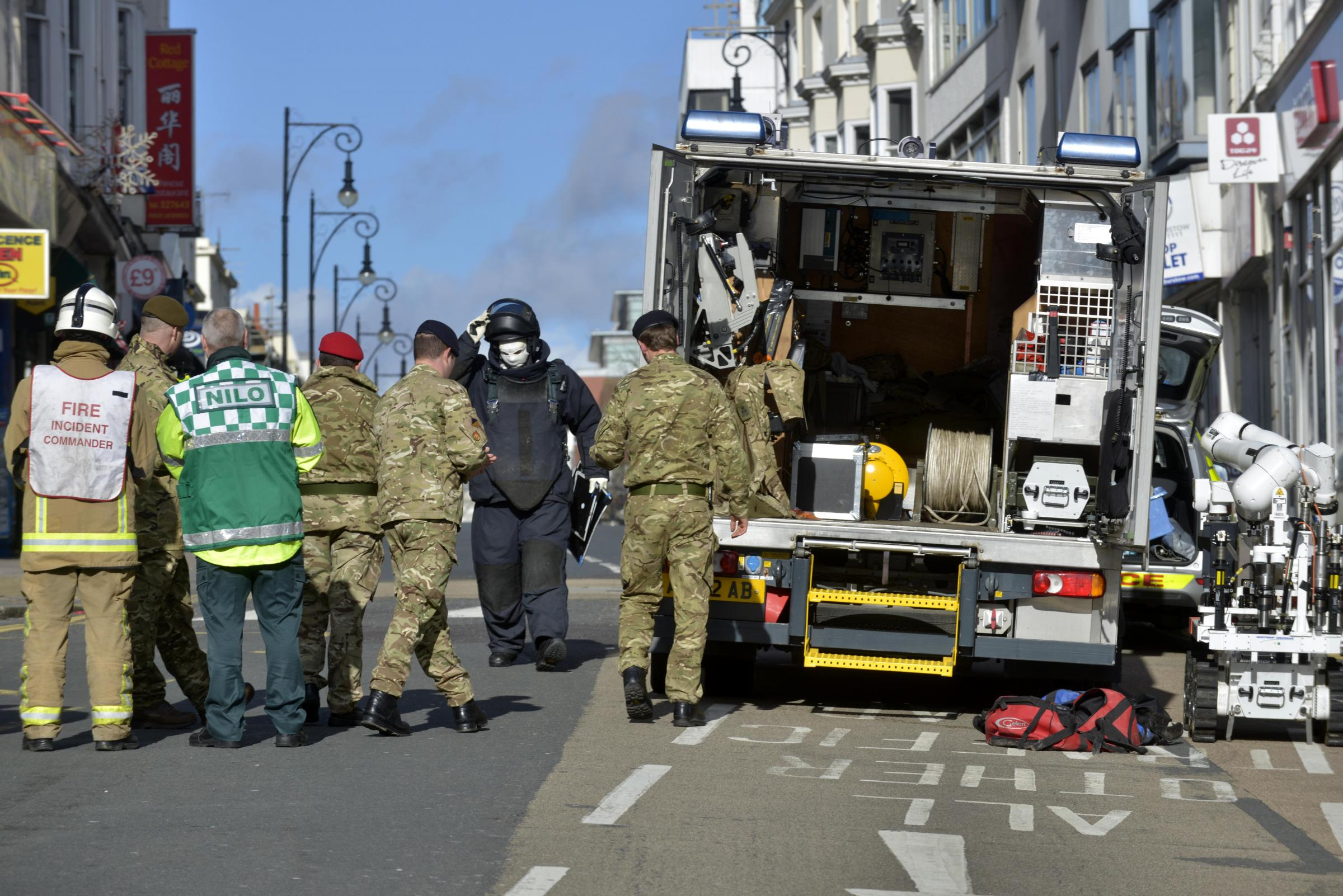 Brighton bomb scare captured on video