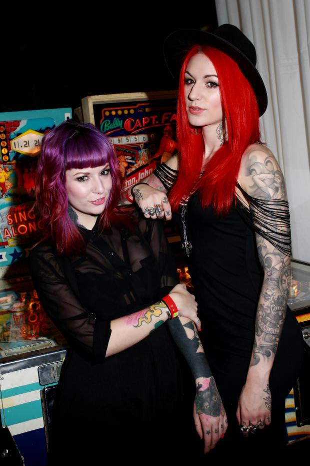 The Argus: Cervena Fox and Rebecca Crow, at the Brighton Tattoo Convention