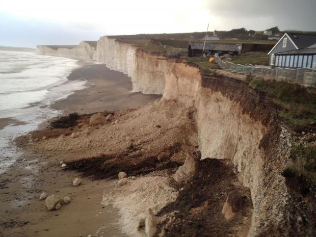 A section of the Birling Gap cliff edge near Eastbourne
