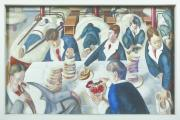 Tea In The Hospital Ward from the collection at Sandham Memorial Chapel, Burghclere, Hampshire, by Stanley Spencer. Copyright the estate of Stanley Spencer. All rights reserved DACS ©National Trust Images/John Hammond