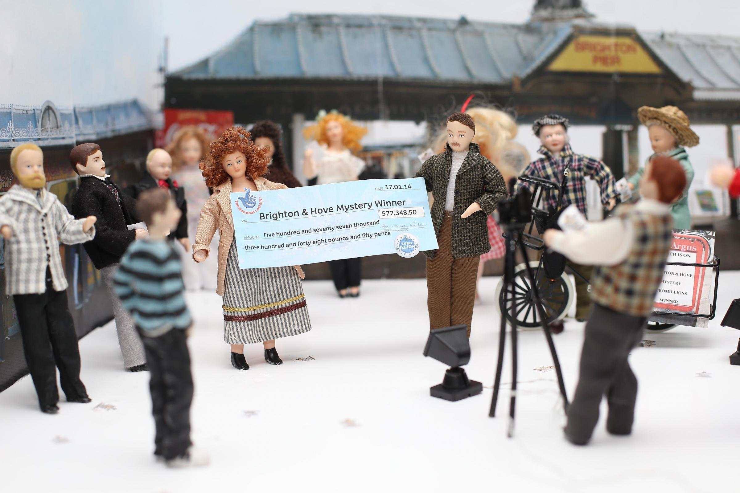 Half million jackpot mystery winner portrayed at Brighton Model World