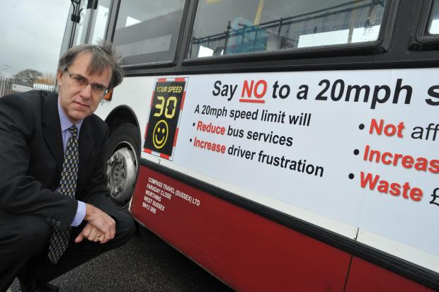 The Argus: 20mph limit could see withdrawal of buses from Worthing