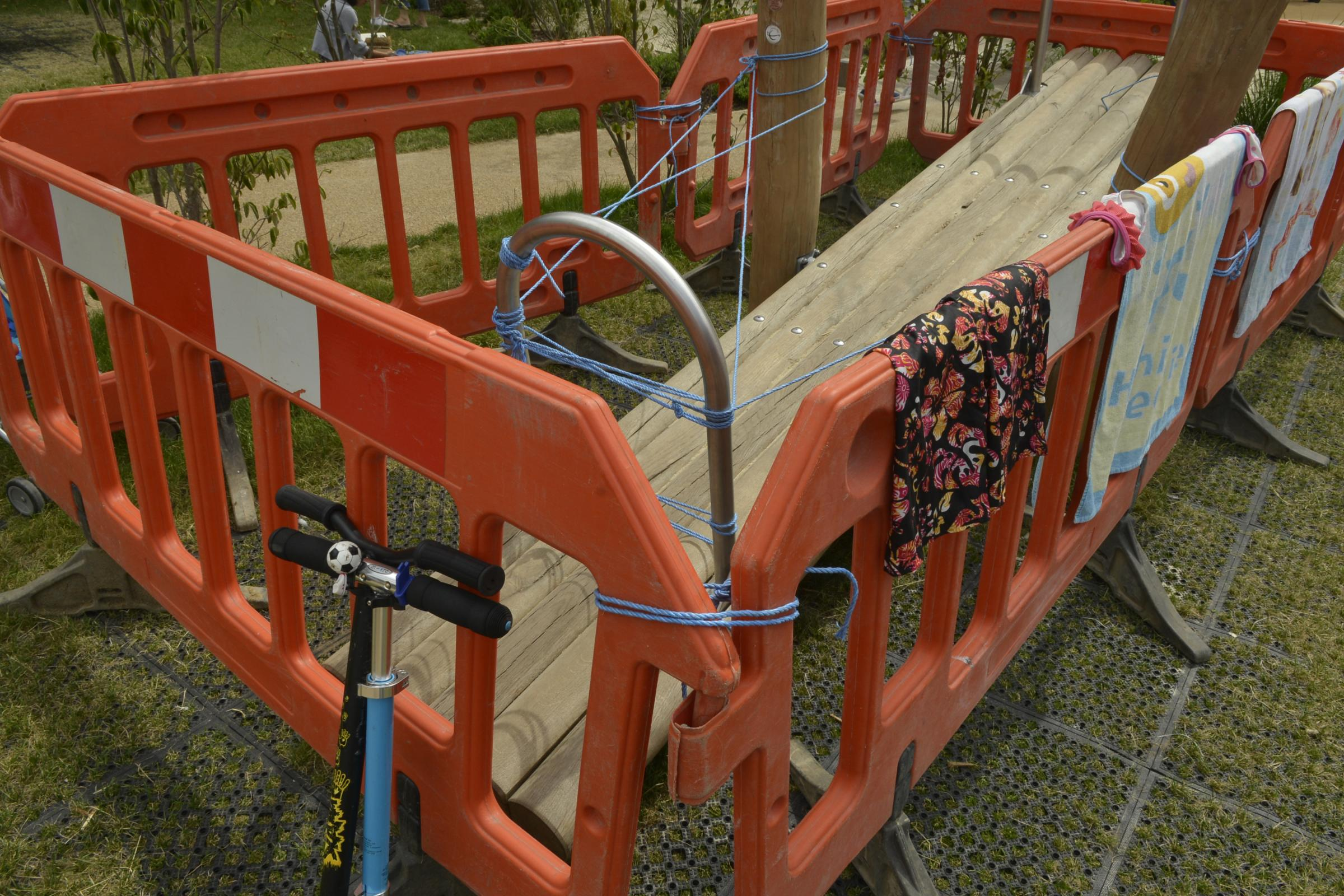 The seesaw at the Level had to be shut last August due to safety fears