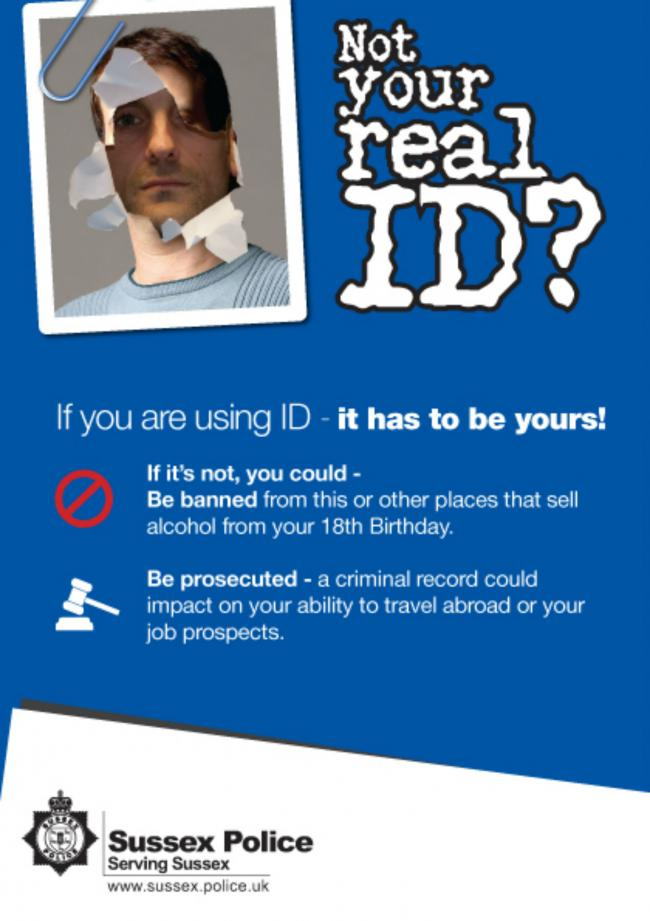 Sussex New Dangers In Fake Argus Teenagers Police The Id Campaign Warned Of Poster