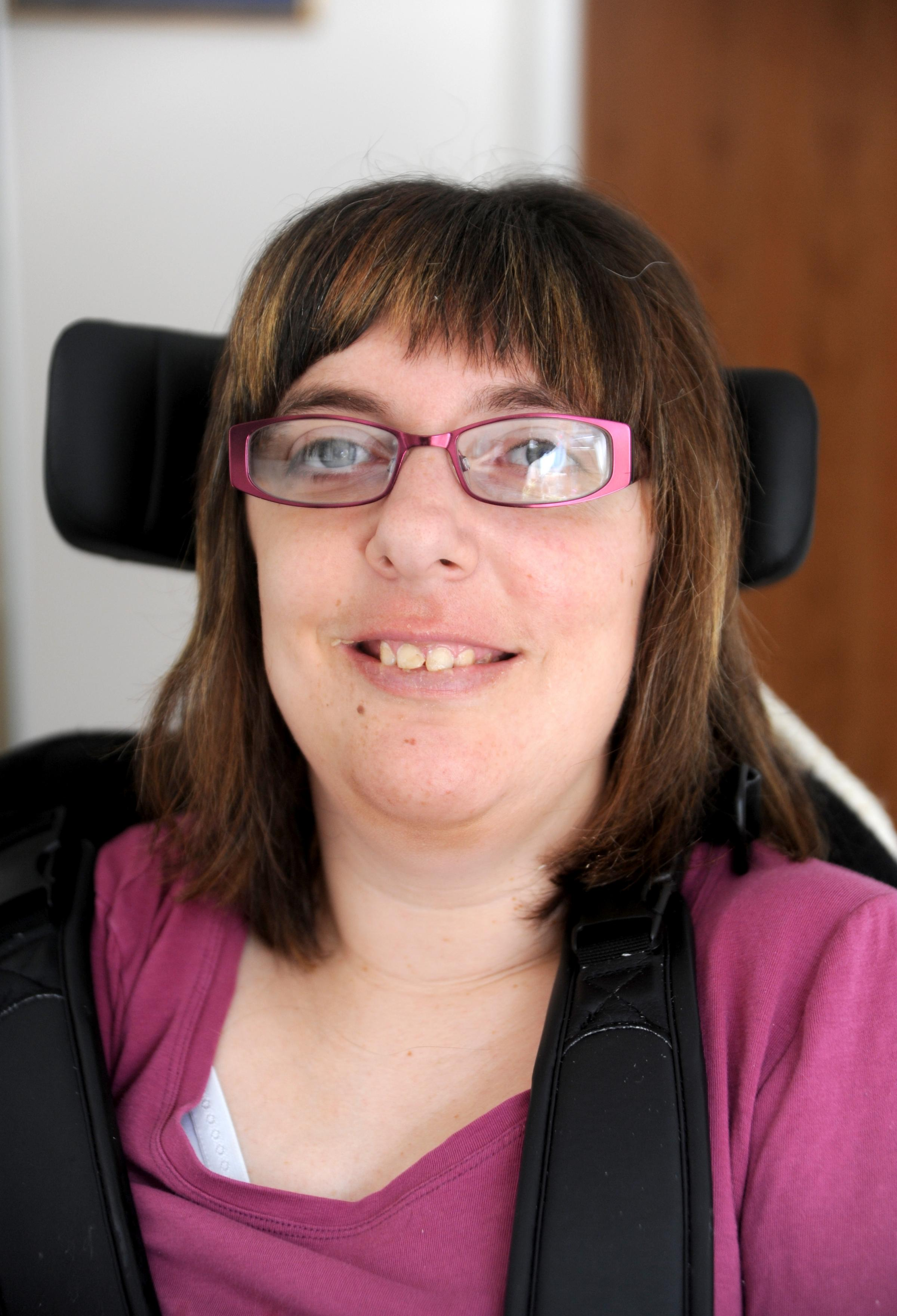Katy Montgomery, who has cerebal palsy, was left in shock after her carer stole from her Lancing home